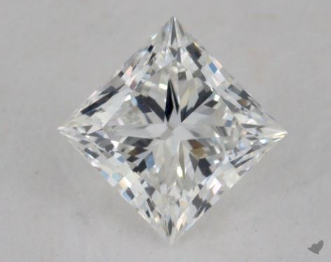 0.91 Carat F-VS1 Ideal Cut Princess Diamond