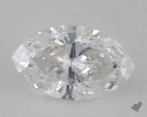 0.89 Carat D-I1 Marquise Cut  Diamond
