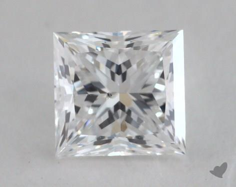 0.90 Carat E-SI2 Very Good Cut Princess Diamond