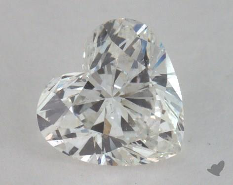 1.11 Carat H-SI2 Heart Cut Diamond