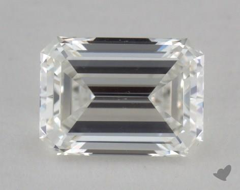 0.91 Carat H-VS1 Emerald Cut Diamond
