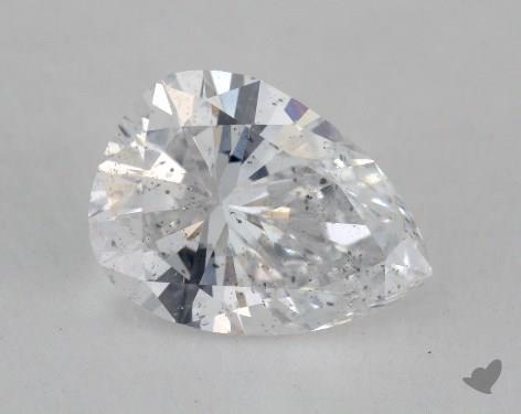1.27 Carat D-I1 Pear Shape Diamond