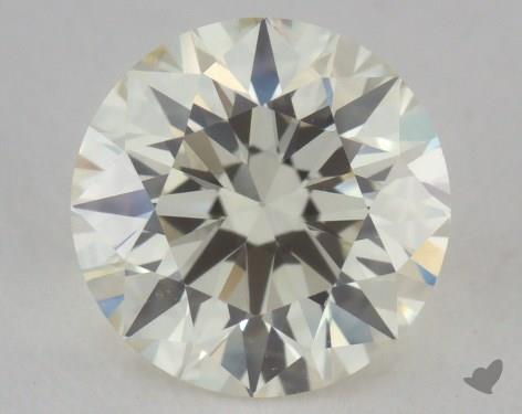 0.95 Carat  orange-VS1 Round Cut Diamond
