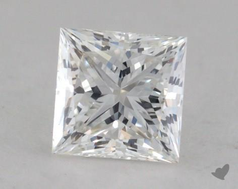 0.92 Carat E-VS1 Ideal Cut Princess Diamond