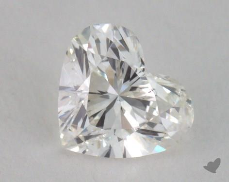 0.54 Carat H-SI2 Heart Cut Diamond