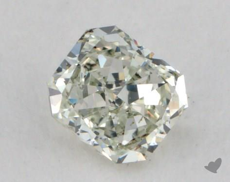 0.32 Carat fancy light yellowish green Radiant Cut Diamond