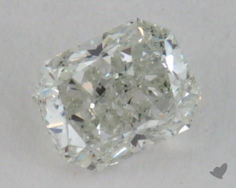 0.30 Carat very light green Radiant Cut Diamond