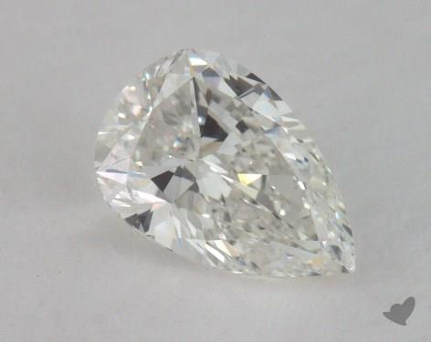 0.97 Carat H-SI1 Pear Shaped  Diamond