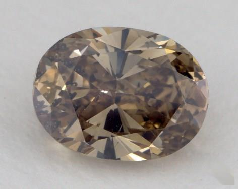 1.63 Carat fancy dark yellow brown-I1 Oval Cut Diamond
