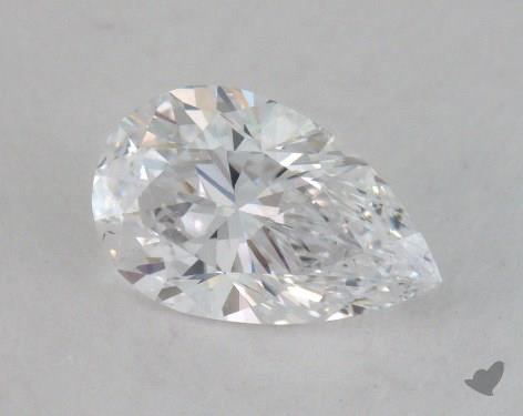 0.72 Carat D-SI2 Pear Shape Diamond