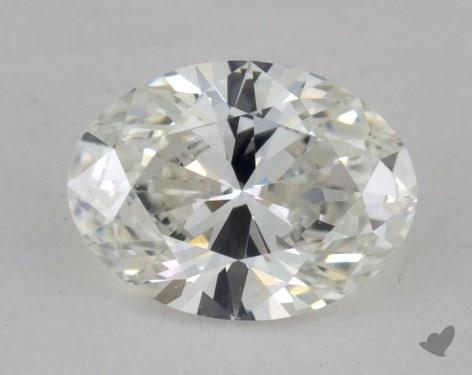0.53 Carat H-VVS1 Oval Cut Diamond