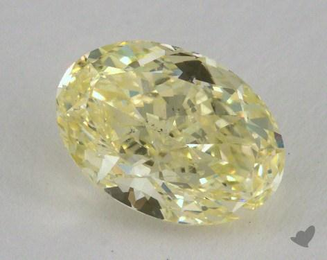 2.49 Carat fancy yellow-SI2 Oval Cut Diamond