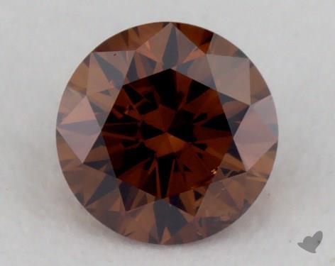 0.25 Carat fancy deep orange brown-I1 Round Cut Diamond