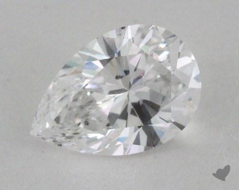 1.32 Carat D-SI1 Pear Cut Diamond