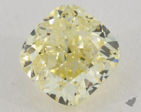 1.70 Carat fancy light yellow-VS2 Cushion Cut Diamond