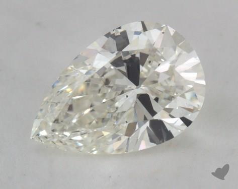 1.74 Carat H-SI1 Pear Shape Diamond