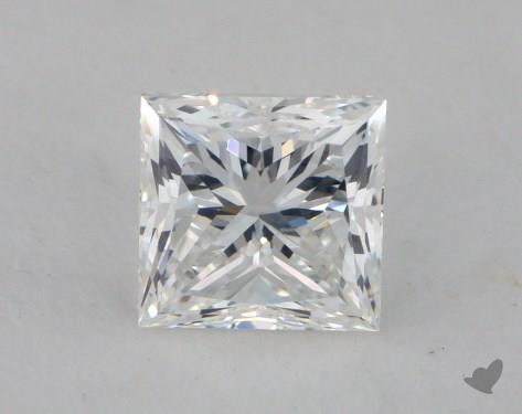 0.91 Carat F-SI1 Ideal Cut Princess Diamond