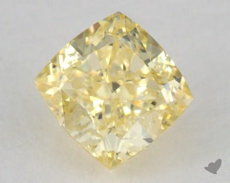 0.73 Carat fancy yellow Cushion Modified Cut Diamond