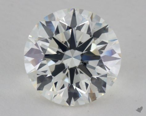 3.01 Carat J-SI1 Excellent Cut Round Diamond