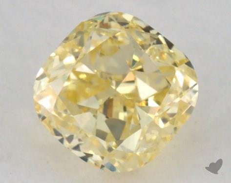 0.71 Carat fancy yellow-VS1 Cushion Cut Diamond