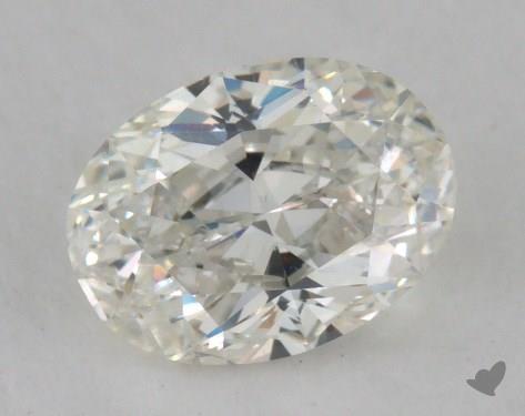 0.91 Carat H-SI1 Oval Cut Diamond