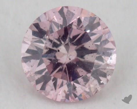 0.17 Carat fancy purple pink Round Cut Diamond