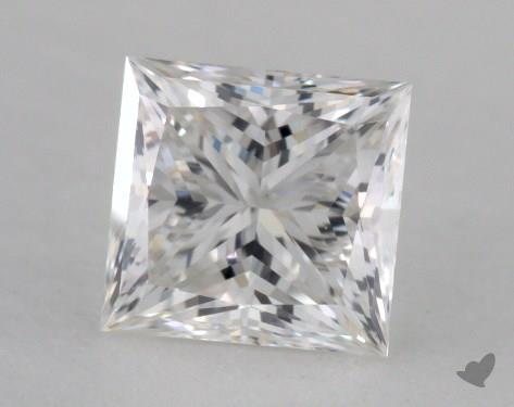 0.97 Carat E-VVS1 Ideal Cut Princess Diamond