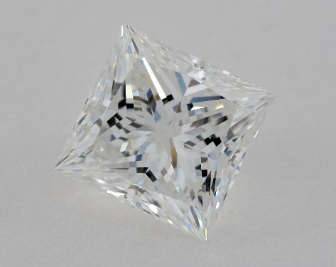 1.62 Carat E-VVS2 Ideal Cut Princess Diamond