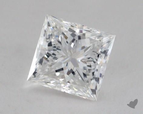 1.54 Carat E-SI1 Ideal Cut Princess Diamond