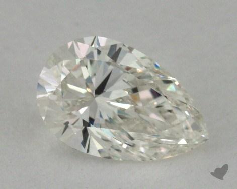 0.72 Carat H-VVS2 Pear Cut Diamond