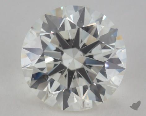 3.03 Carat I-SI1 Excellent Cut Round Diamond
