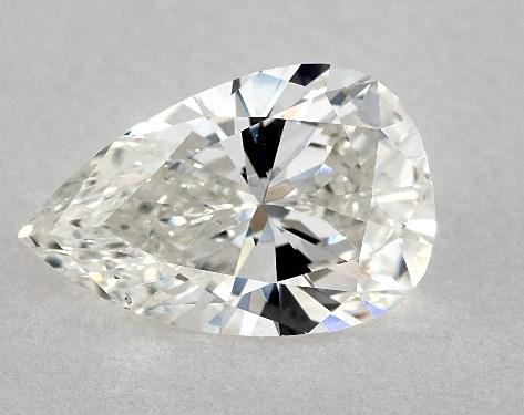 1.34 Carat H-SI1 Pear Shape Diamond
