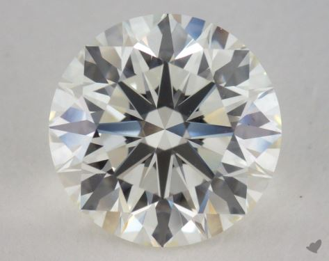 3.07 Carat J-VVS2 Excellent Cut Round Diamond