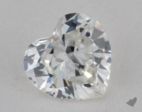0.92 Carat H-SI1 Heart Shape Diamond