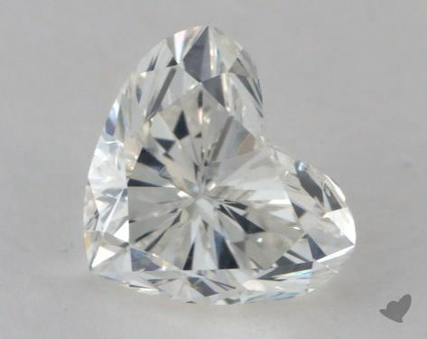 0.71 Carat H-SI2 Heart Shape Diamond