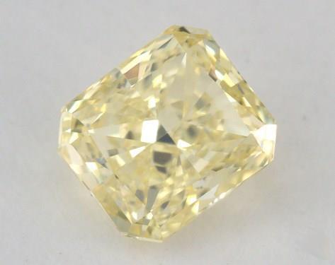 0.58 Carat fancy yellow-VVS1 Radiant Cut Diamond
