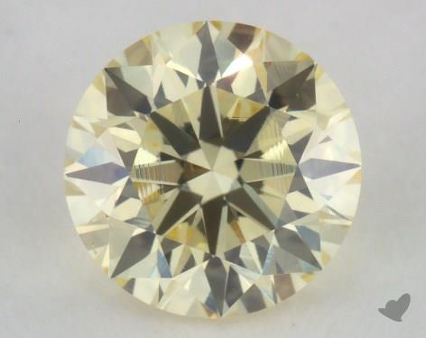 0.50 Carat light yellow-VS2 Round Cut Diamond