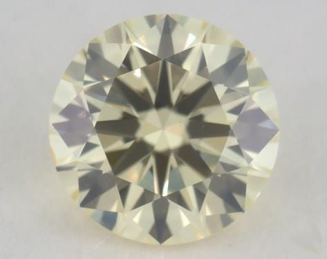 0.38 Carat light yellow-SI1 Round Cut Diamond