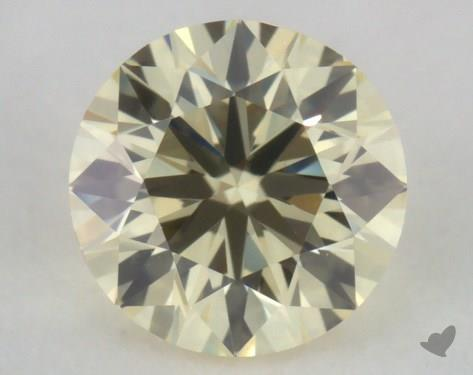 0.40 Carat light yellow-VS1 Round Cut Diamond