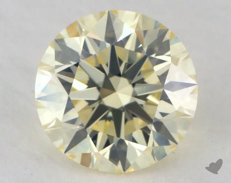 0.55 Carat light yellow-VS2 Round Cut Diamond
