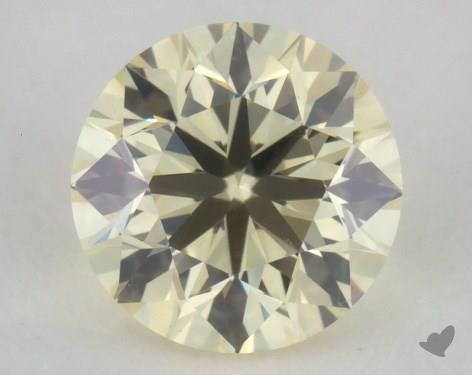 0.51 Carat light yellow-VS2 Round Cut Diamond