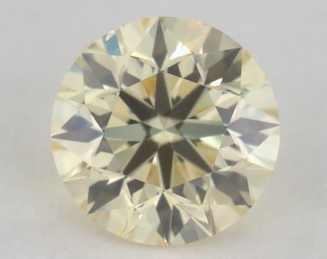 0.40 Carat light yellow-VS2 Round Cut Diamond