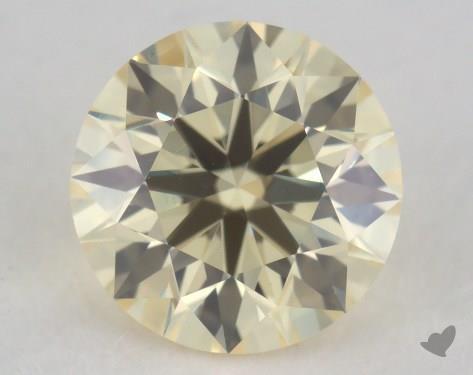 0.55 Carat light yellow-VS1 Round Cut Diamond