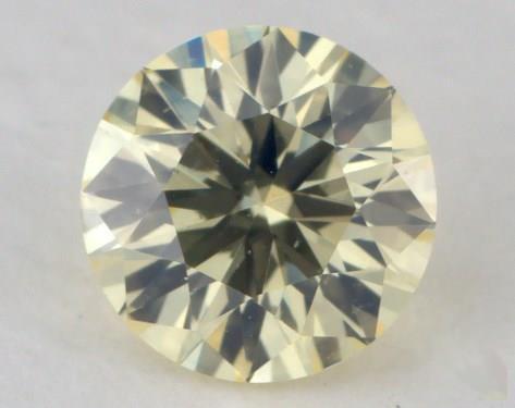 0.43 Carat light yellow-SI1 Round Cut Diamond