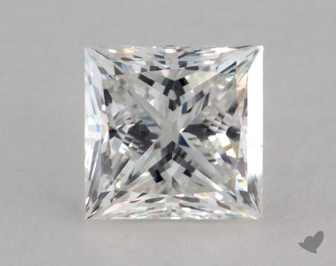 1.38 Carat F-VS2 Ideal Cut Princess Diamond