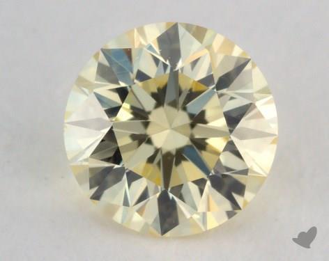 0.53 Carat light yellow-VVS2 Round Cut Diamond