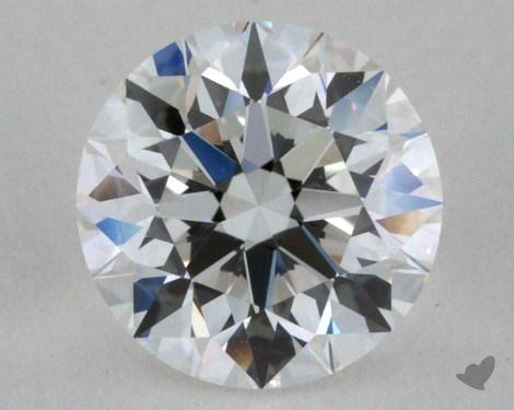 0.90 Carat F-VVS1 Very Good Cut Round Diamond