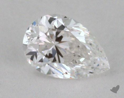 0.32 Carat D-VS2 Pear Shaped  Diamond