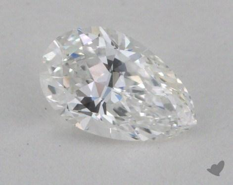 0.36 Carat E-VVS1 Pear Cut Diamond 