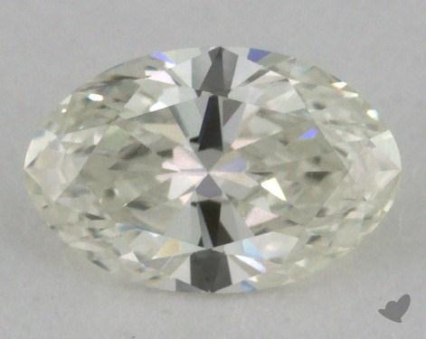 0.77 Carat I-VVS1 Oval Cut Diamond